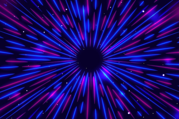 Niebieskie I Fioletowe światła Prędkości W Tle Darmowych Wektorów