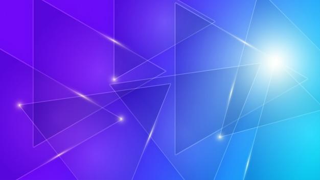 Niebieskie i fioletowe tło z jasnymi liniami Premium Wektorów