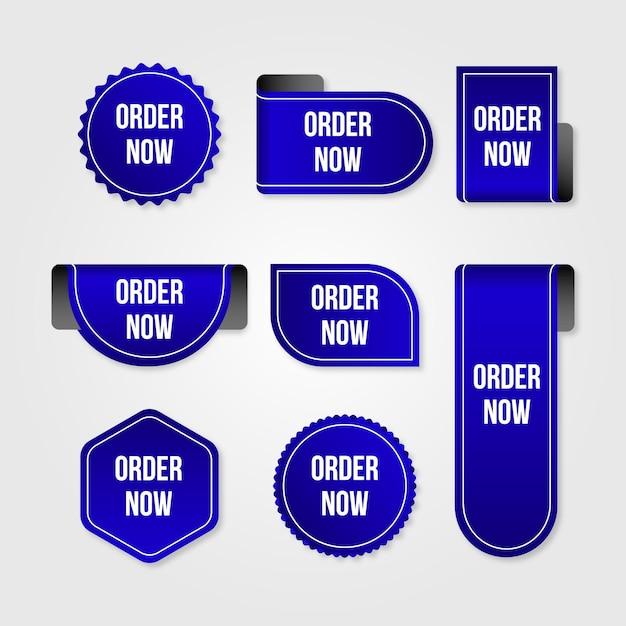 Niebieskie Naklejki Na Zamówienie Teraz W Promocji Premium Wektorów