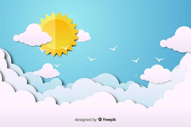 Niebieskie niebo w tle Darmowych Wektorów