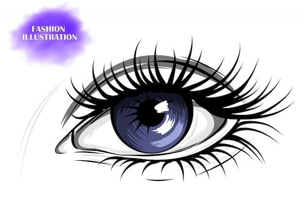Niebieskie Oko Premium Wektorów