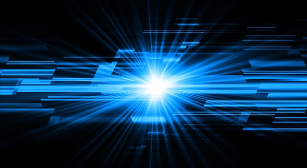 Niebieskie światło Zoom Streszczenie Premium Wektorów