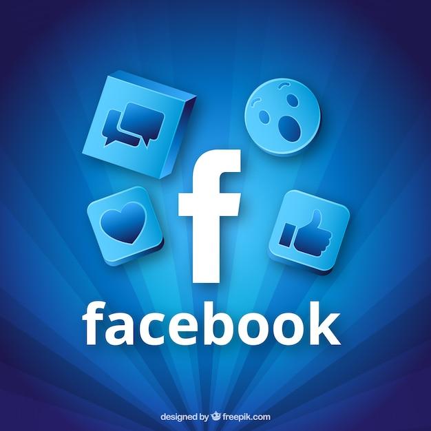 Niebieskie Tå,o Ikon Facebook Premium Wektorów