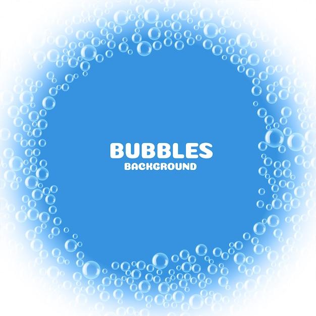 Niebieskie tło bąbelki mydła lub wody Darmowych Wektorów