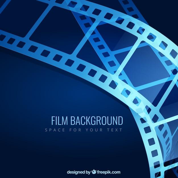 Niebieskie Tło Filmu Darmowych Wektorów