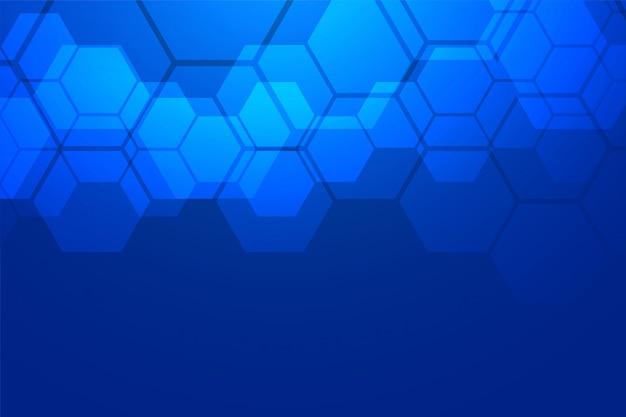 Niebieskie Tło Sześciokątne Darmowych Wektorów