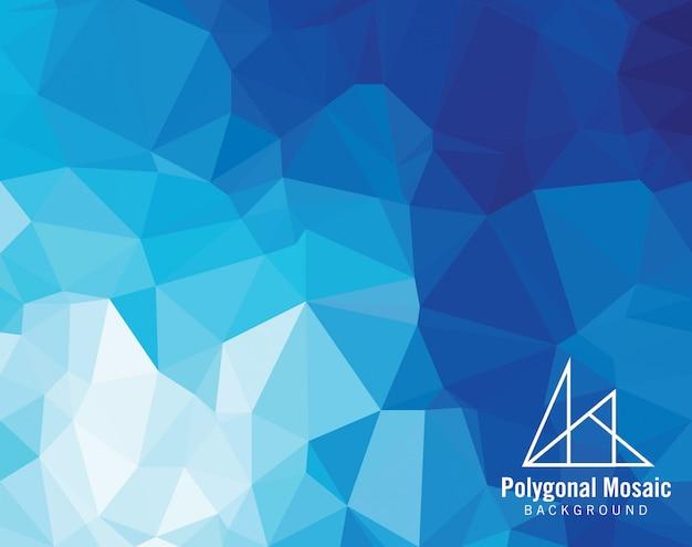 Niebieskie Tło Wielokątne Mozaiki Premium Wektorów
