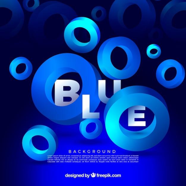 Niebieskie Tło Z Kształtami Darmowych Wektorów