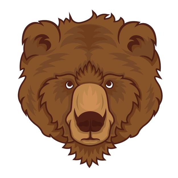 Niedźwiadkowa Głowa Odizolowywająca Na Białym Tle. Premium Wektorów