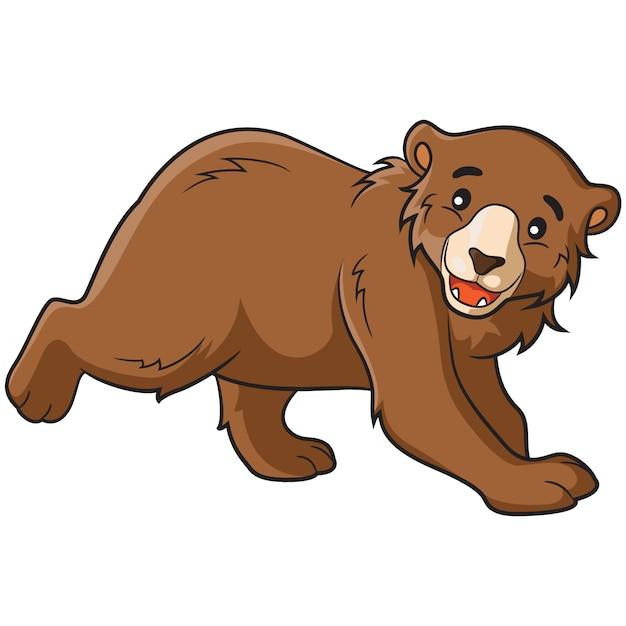 Niedźwiedź Cartoon Premium Wektorów