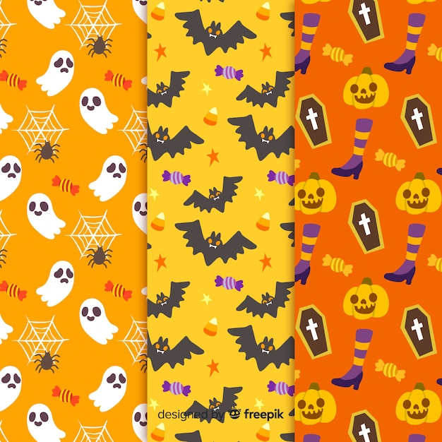 Niekończące się tekstury na imprezy halloweenowe Darmowych Wektorów
