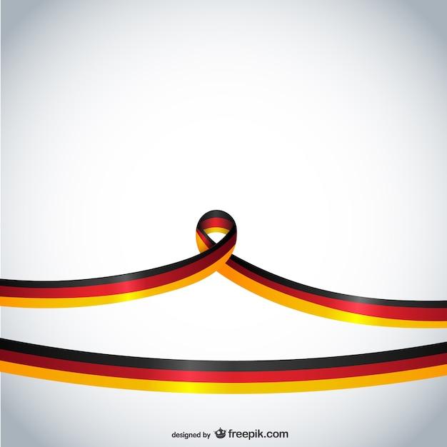 Niemcy Wstążką Darmowych Wektorów