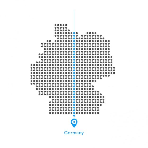 Niemcy Zapałała Grafiką Wektorową Premium Wektorów
