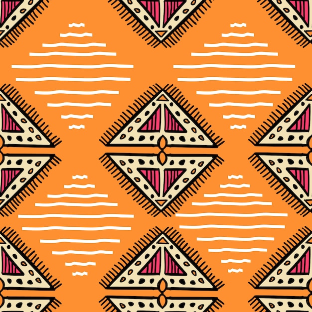 Niesamowite Aztec Wzór Z Ręcznie Rysowane Kreatywnych Premium Wektorów