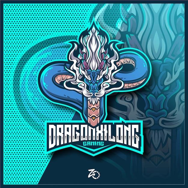 Niesamowite E-sportowe Gry Dragon Xilong Premium Wektorów