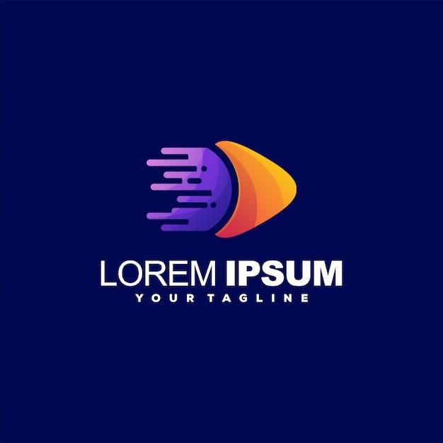 Niesamowite grać streszczenie logo Premium Wektorów