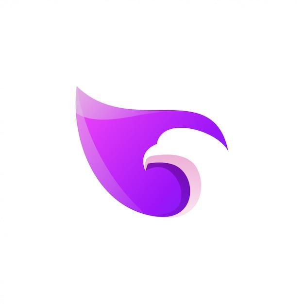 Niesamowite kolorowe logo orła Premium Wektorów