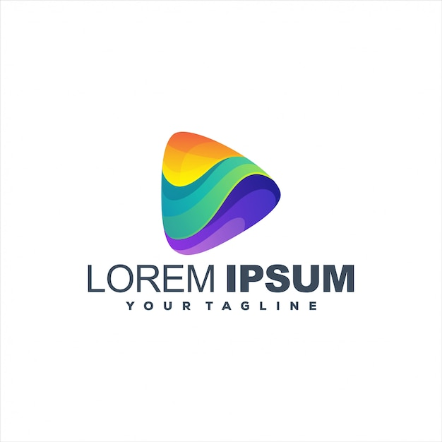 Niesamowite Logo Gradientu Gry Premium Wektorów