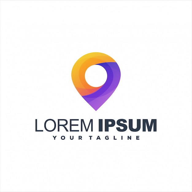 Niesamowite Logo Gradientu Pin Premium Wektorów
