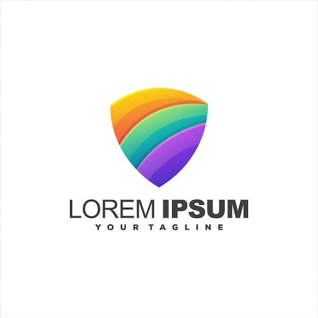 Niesamowite Logo Gradientu Tarczy Premium Wektorów