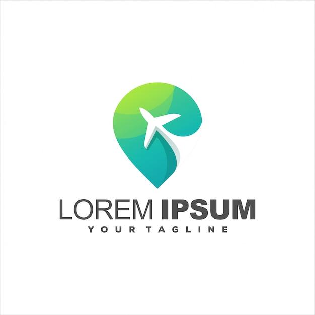 Niesamowite Logo Pin Samolotu Premium Wektorów
