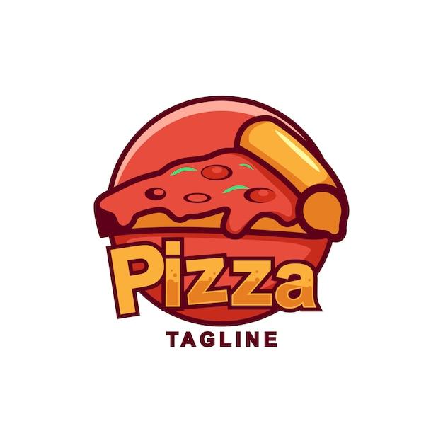 Niesamowite logo pizza premium Premium Wektorów