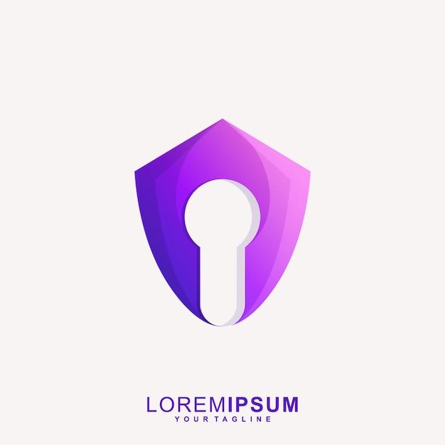 Niesamowite Logo Secure Lock Premium Wektorów