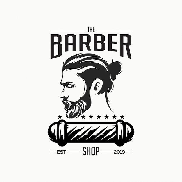 Niesamowite Logo Sklepu Fryzjerskiego Premium Wektorów