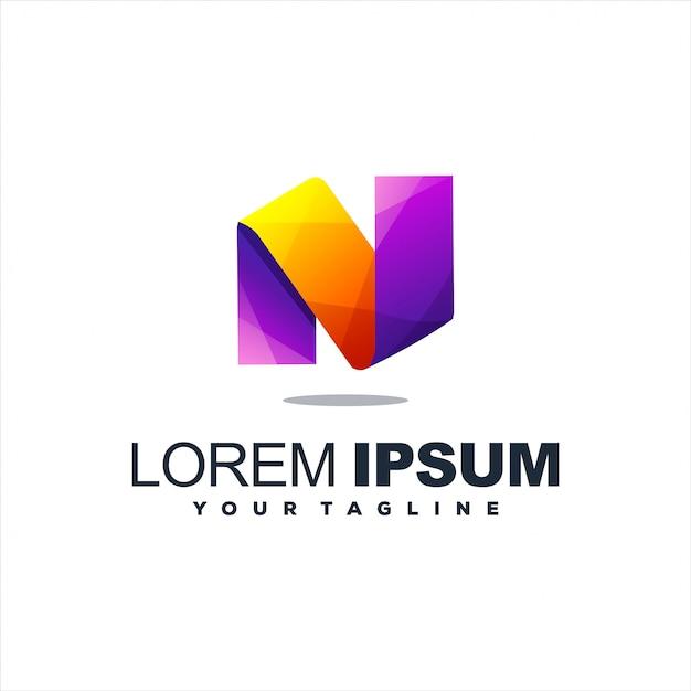 Niesamowite Projektowanie Logo Litera N Premium Wektorów