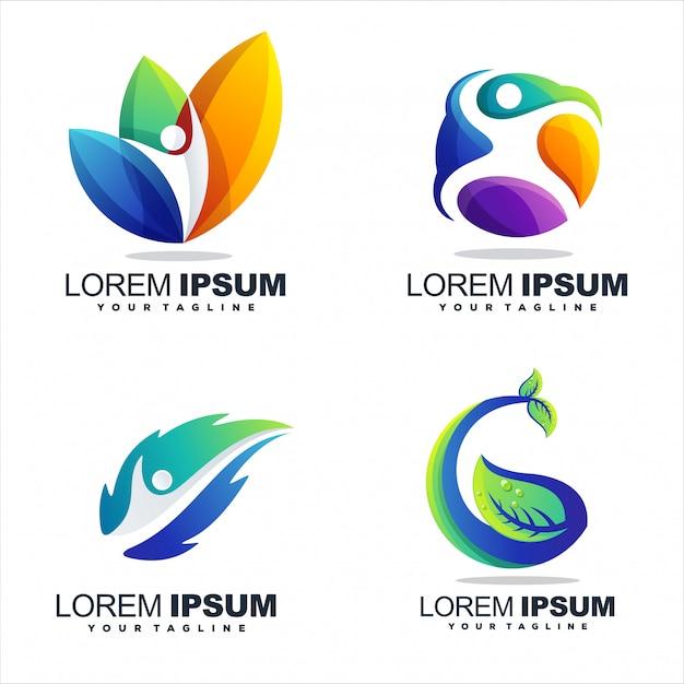 Niesamowite Projektowanie Logo Streszczenie Gradientu Premium Wektorów