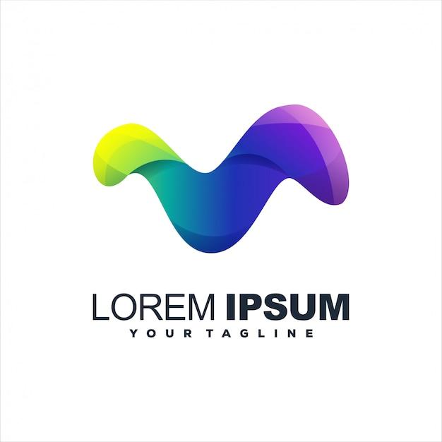 Niesamowite streszczenie logo gradientu Premium Wektorów