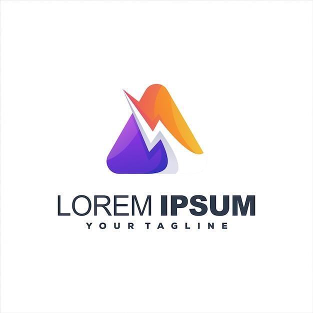Niesamowite Trójkątne Logo Premium Wektorów