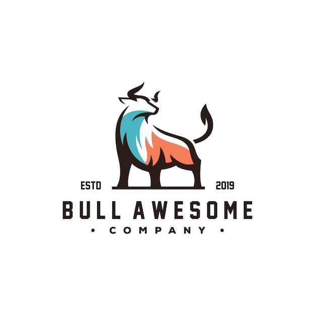 Niesamowite wektor logo byka Premium Wektorów