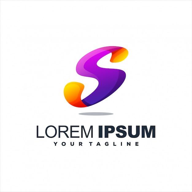 Niesamowity projekt logo litery s. Premium Wektorów