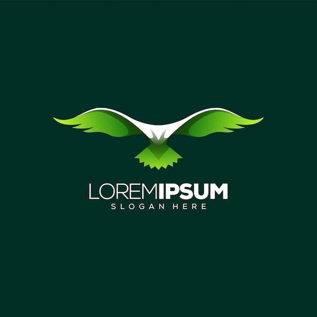 Niesamowity projekt logo orła Premium Wektorów