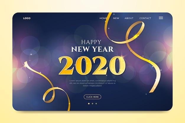 Niewyraźna strona docelowa nowego roku Darmowych Wektorów