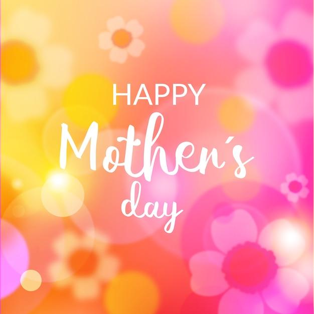 Niewyraźne Dzień Matki Z Napisem Darmowych Wektorów