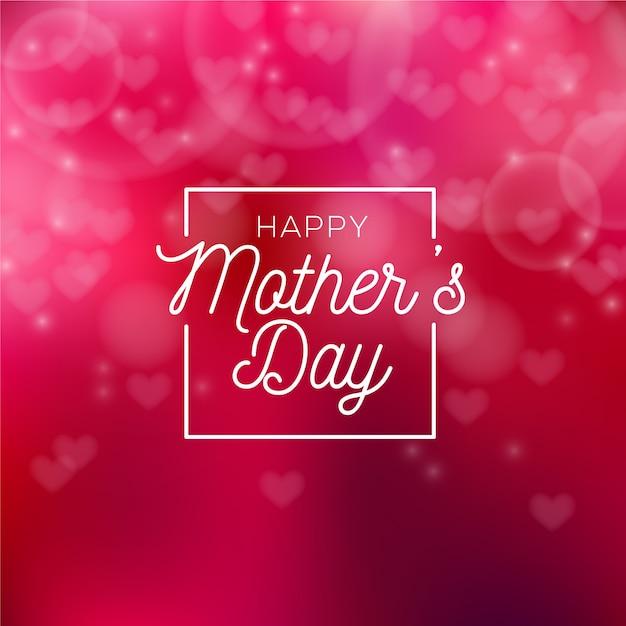 Niewyraźne Dzień Matki Z Serca Darmowych Wektorów