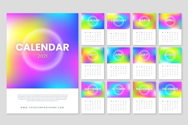 Niewyraźne Kalendarz Na Nowy Rok 2021 Darmowych Wektorów