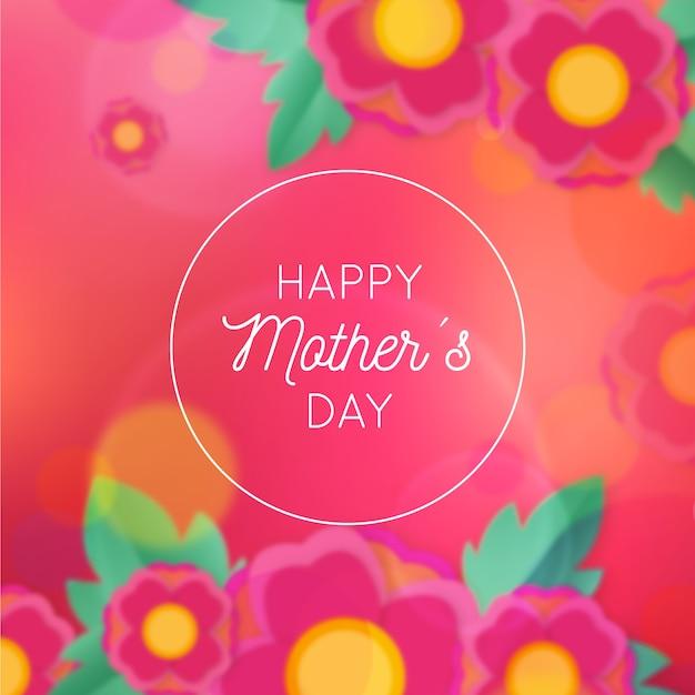 Niewyraźne Kwiatowy Dzień Matki Darmowych Wektorów