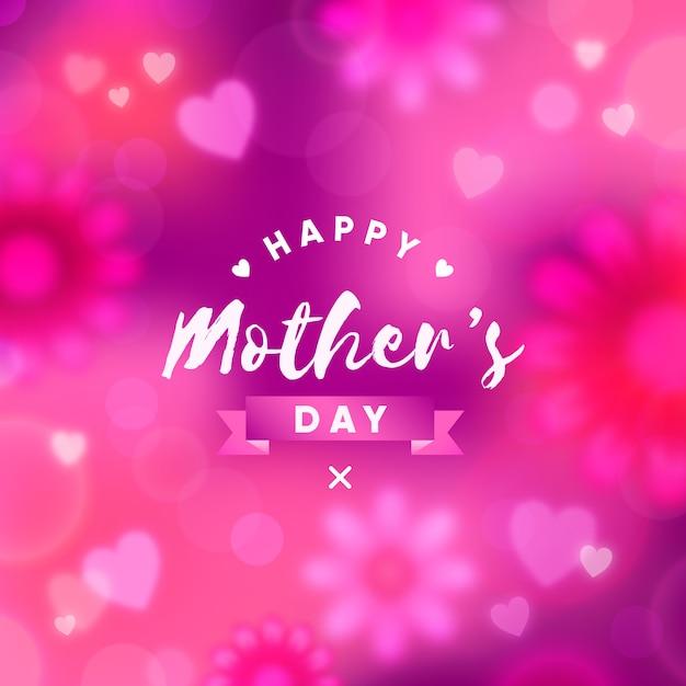 Niewyraźne Tapety Na Dzień Matki Darmowych Wektorów