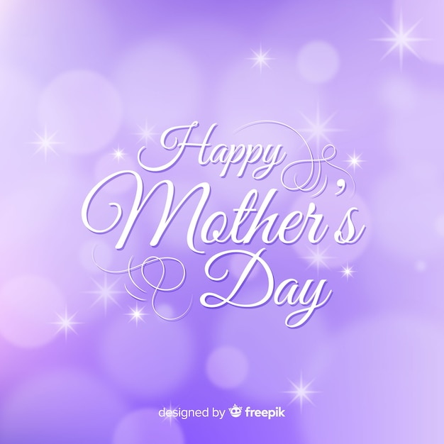 Niewyraźne Tło Dzień Matki Premium Wektorów