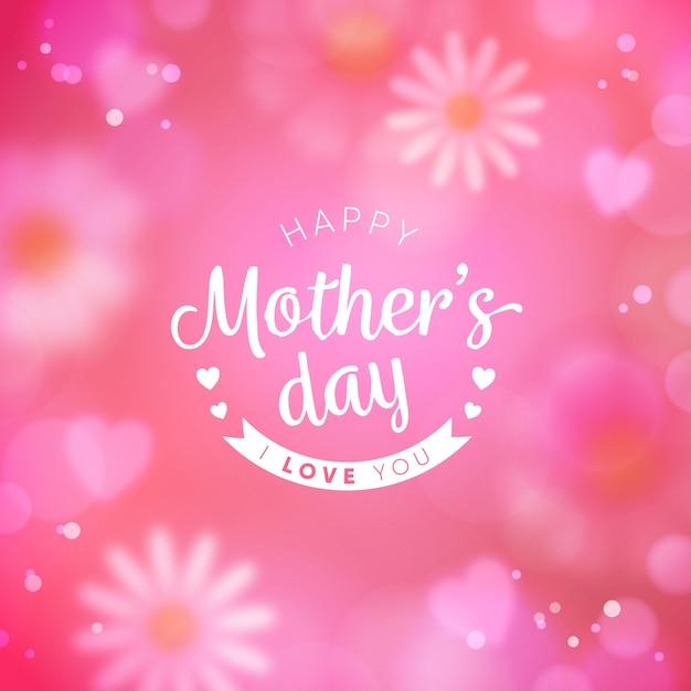 Niewyraźne Tło Dzień Matki Darmowych Wektorów