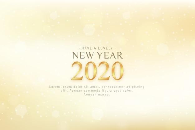 Niewyraźne tło nowego roku 2020 Darmowych Wektorów