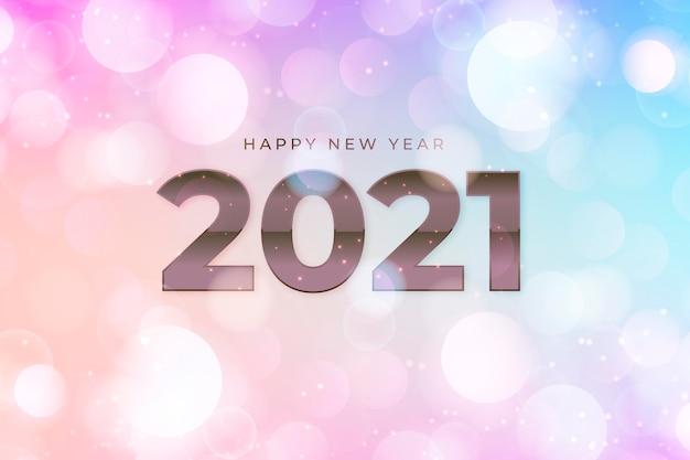 Niewyraźne Tło Nowego Roku 2021 Darmowych Wektorów