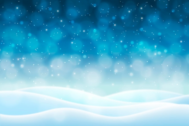 Niewyraźne Tło Zima Wzgórza śniegu Darmowych Wektorów