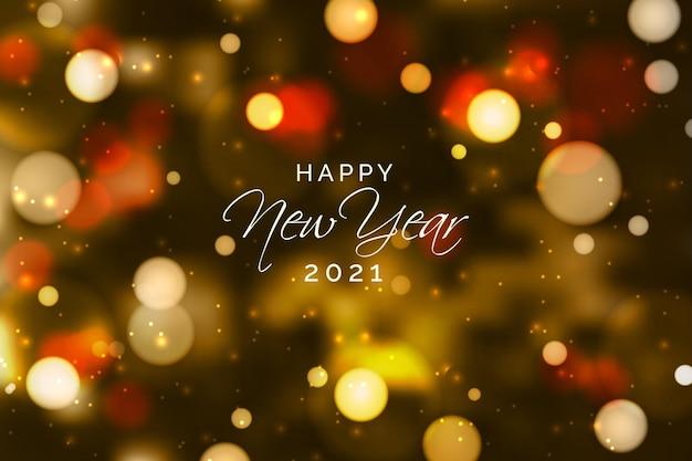 Niewyraźny Nowy Rok 2021 Darmowych Wektorów