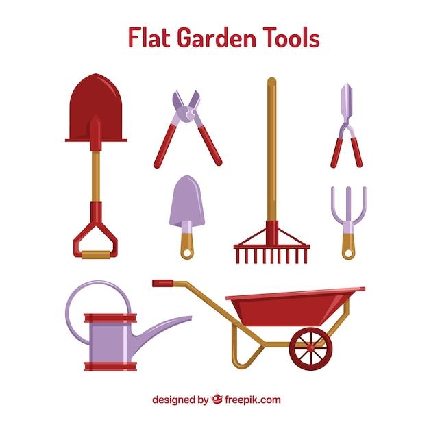 Niezbędne narzędzia ogrodnicze Darmowych Wektorów
