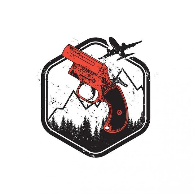 Nieznany Pistolet Flotacyjny Battlegroundu Gracza Premium Wektorów