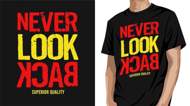 Nigdy Nie Oglądaj Projektu Koszulki Wstecz Premium Wektorów